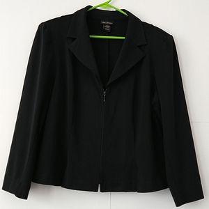 Lane Bryant black blazer zipper front